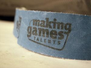 Ein Making Games 2010 Bändchen